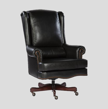 Hekman Leather Executive Chair - Crown Bottom